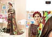 Printed Hand Printed Saree