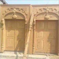 Wooden Handicraft Door