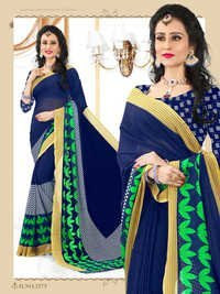 Fancy Sarees with Border Lace