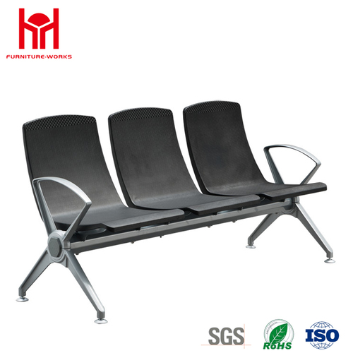 high quality low price 3 Seat PU padded waiting chair for Airport