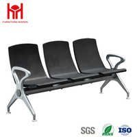 Hot sale high quality fashion 3 Seat PU padded waiting chair for Airport