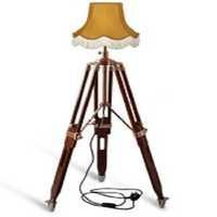Wood Tripod Floor Lamp - Use With Shade Lampshade