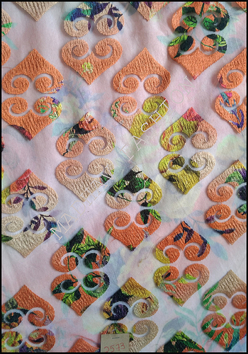 Embroidery on Digital print