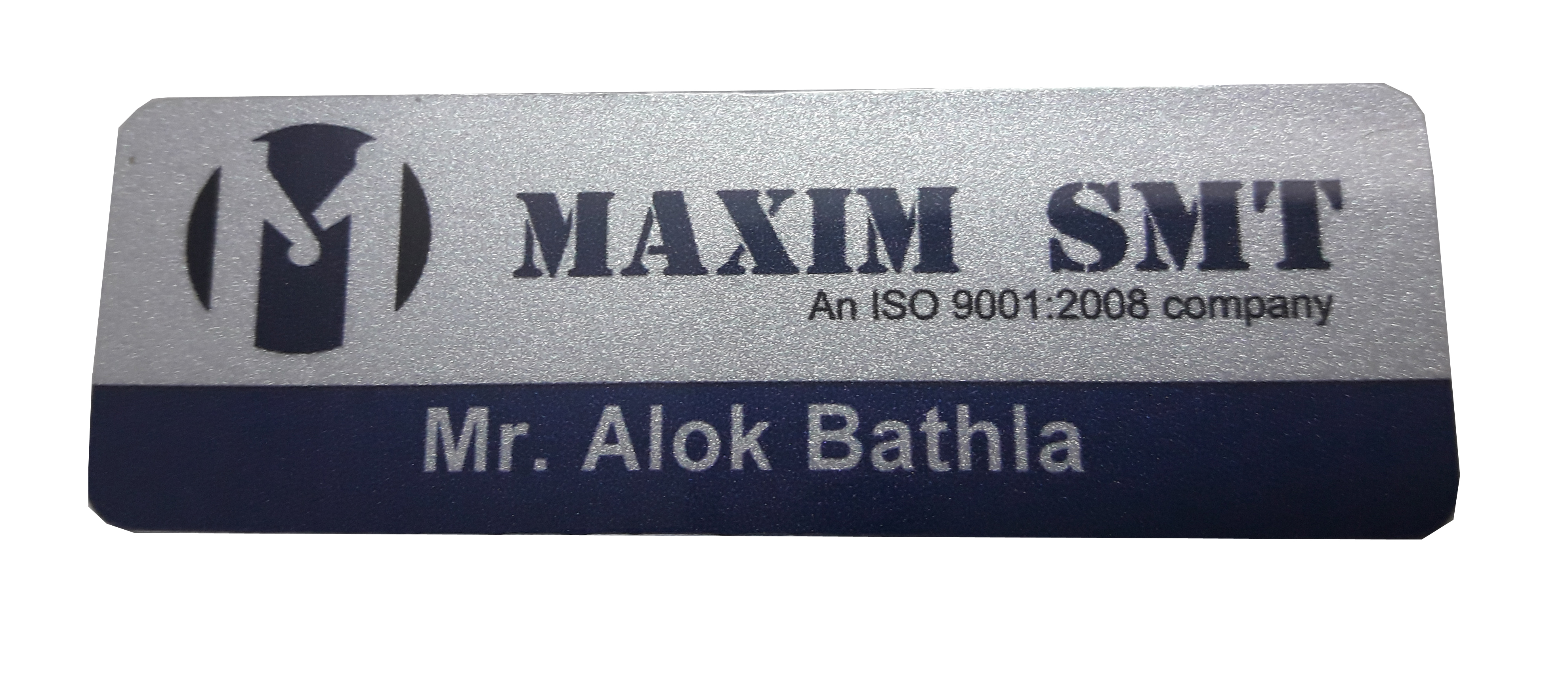Metallic Name Badges