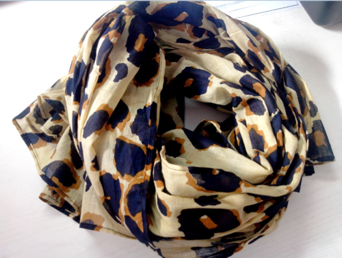 Tiger Print Scarf