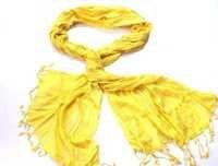 Yarn Dye Yellow Scarves