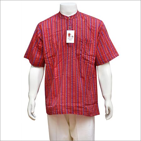 Men's Half Sleeve Short Cotton Kurta