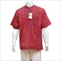 Men's Half Sleeve Short Cotton Kurta