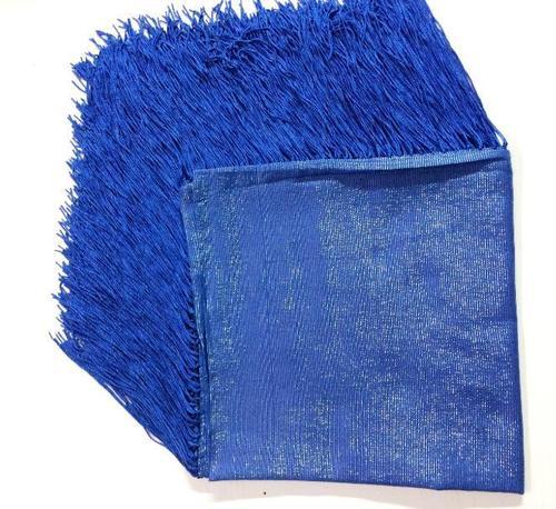 Solid Royal Blue Tassels Scarf