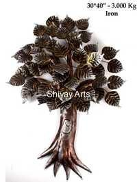 Metal Iron Contemporary Designer Tree Wall Decor Wall Hanging