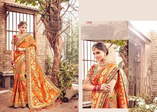 Banarasi Silk Designer Work Sarees Supplier