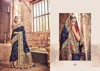 Navy Blue Designer Silk Sarees