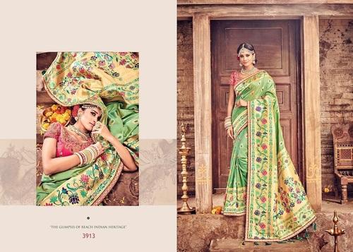 Green Banarasi Silk Sarees Online