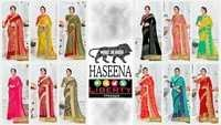 HASEENA Fancy Pattern Designer Printed Mix Fabric Sarees