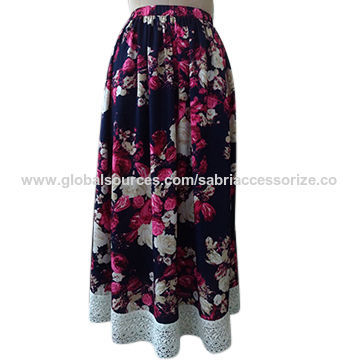 Womens Long Printed Skirt
