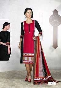 COTTON PRINTED FANCY LADIES DRESS MATERIAL