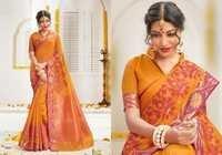 Mustard Designer Silk Sarees