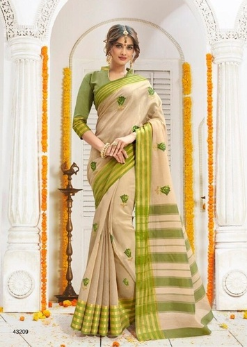Embroidery Work Weaving Silk Sarees