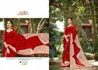 Hand Printed Embroidered Saree