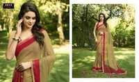 Fancy Hand Printed Saree