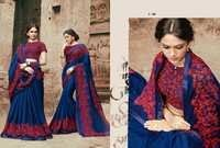 Fancy Royal Blue Saree