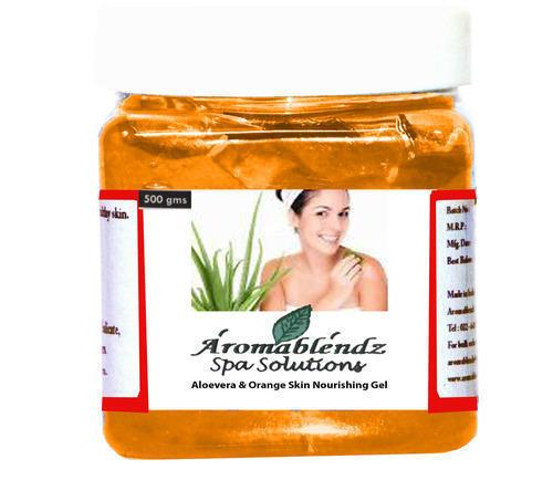 Aromablendz Aloevera And Orange Skin Nourishing Gel