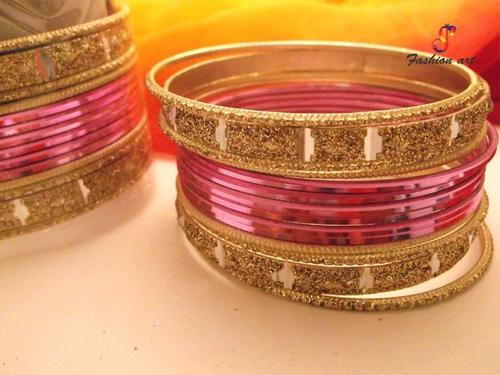 Sagar Kinare Metal Bangle Set LS Closeup