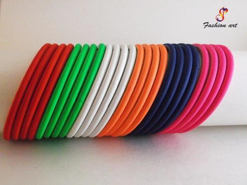 Super Single Colour Metal Bangle Set Size-2.8
