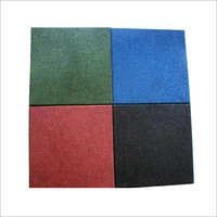 Square Rubber Flooring Tiles