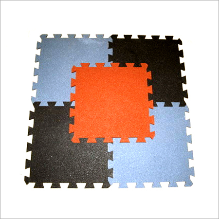 Interlocking Rubber Gym Floor Tiles
