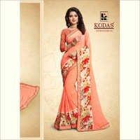 Ladies Flower Print Sarees
