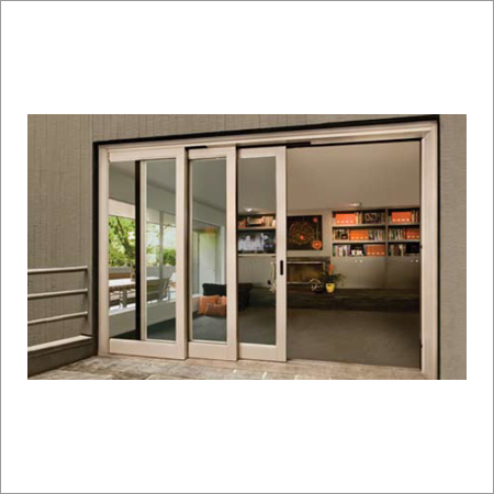 Decorative 3 Panel Sliding Patio Door