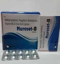 Pregabalin, Methylcobalamin, Folic Acid, Pyridoxine & Benfotiamine Capsules