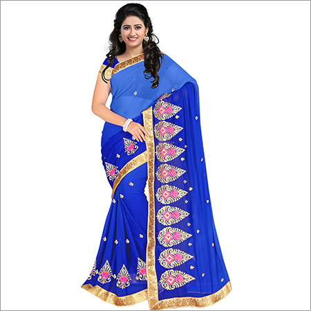 Ladies Georgette Pedding Saree