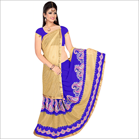 Ladies Sathgram Georgette Lycra Saree