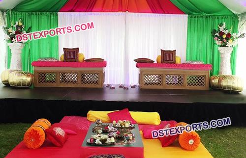 Moroccan Theme Mehandi Stage Decoration