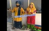 Punjabi Jatt & Jatti Wedding Welcome Statue