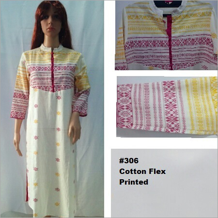Cotton Flex Printed Kurtis