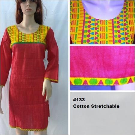 Cotton Stretchable Kurti