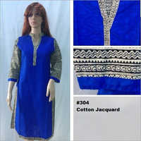 Cotton Jacquard Kurtis