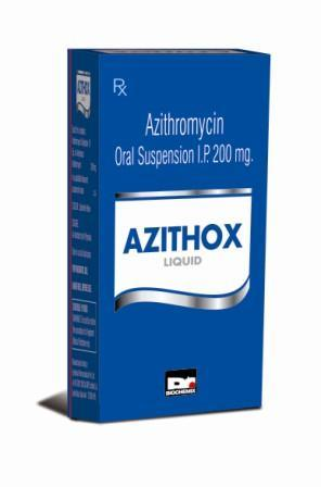 Azithromycin Suspension 200 mg/5 ml.