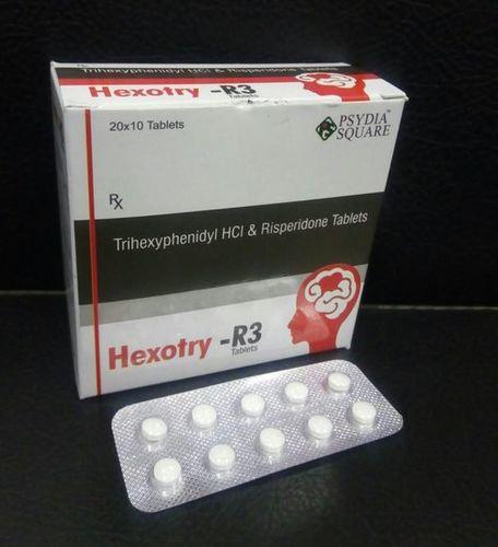 Trihexyphenidyl 2 mg+Risperidone 3 mg Tablets