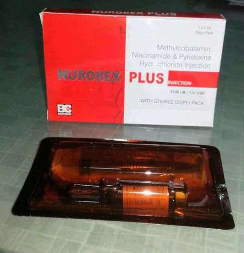 Methylcobalamin 1000 mcg. + Niacinamide 100 mg. + Pyridoxine Hcl 100 mg. per 2 ml.  Inj.