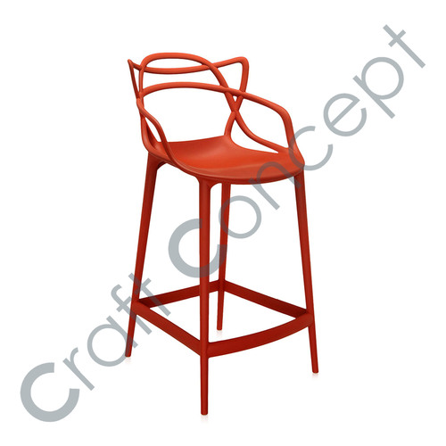 Red Metal Bar Chair