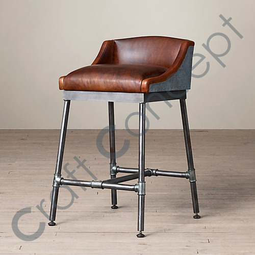 Metal & Leather Chair