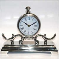 Aluminum Table Clock Nickle Plated