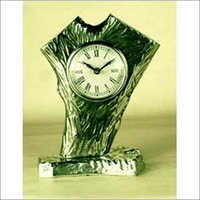 Branch Tree Table Clock Nickle Plated