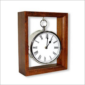 Hanging Clock In Wood Box