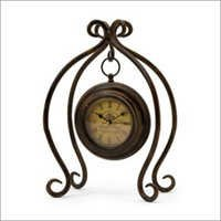 Antique Table Clock With Iron Stand