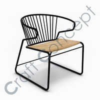 Metal & Wood Chair